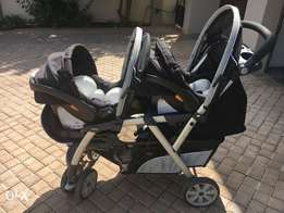 Chico Twin CarSeats with bases