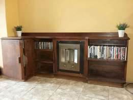 Antique book shelf with heater