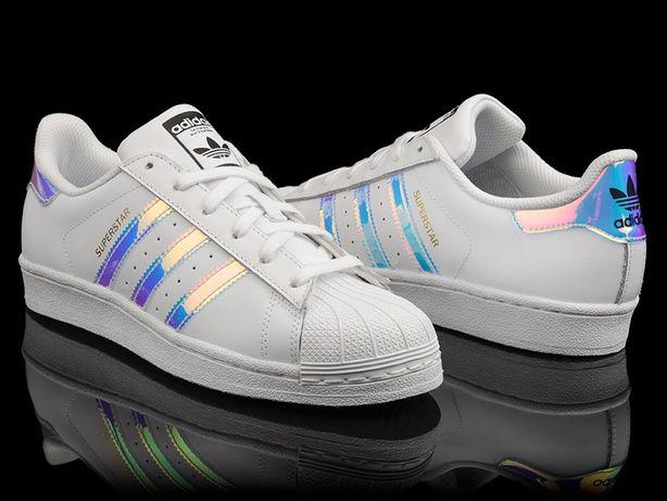 san francisco 6fa07 28eff Hologram Adidas SUPERSTAR Rozmiar 41 wkładka 26.5 cm. białe. kurier Bedlno  - image 1