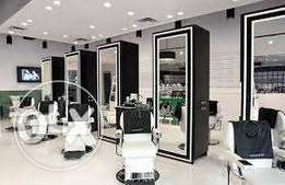 Salon and barbershop mirrors/ workstations