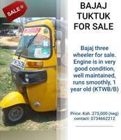 Bajaj Three wheeler tuk tuk Ksh. 250,000