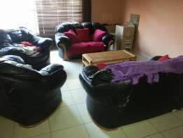 Leather lounge suite for sale