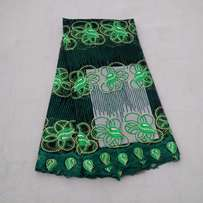 Mixed Green Embroidered & Beaded Sample Lace - 4 Yards