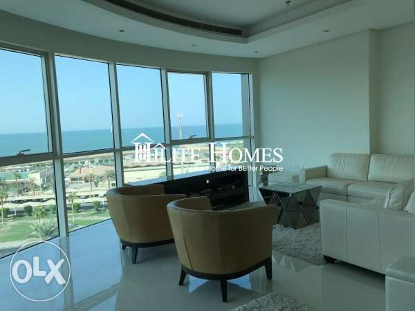 Full floor sea view three bedroom apartment for starting rent KD 1100 الشعب البحري -  5