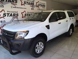 2014 Ford Ranger 2.2 XL Double Cab With Canopy!!!