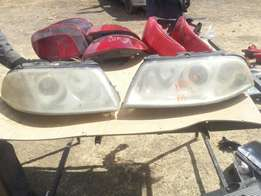 Vw Passat B5 Front bumper & headlights ex uk