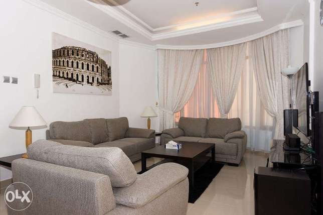 Sea view 3 bd fully furnished in Mangaf