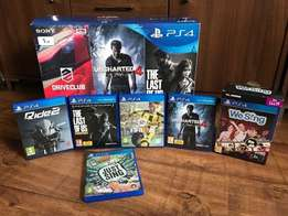 sib PS4 1TB Slim boxed with games brand new