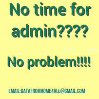 Exceptional admin and data service