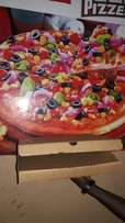 Lebanese restaurant Pizza and pizza box for large