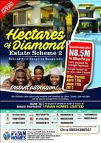 Buy a land from Hecteres of Diamond estate Ajah. An excellent CHOICE