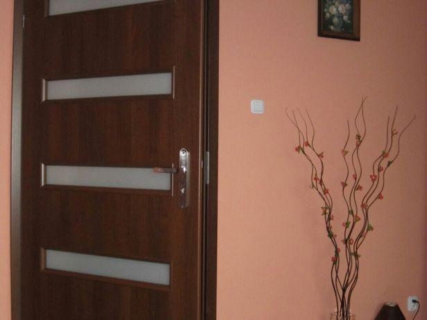 Poważne Drzwi wewnętrzne 90 z szybkami ościeżnica brązowe h Linowiec • OLX.pl BC58
