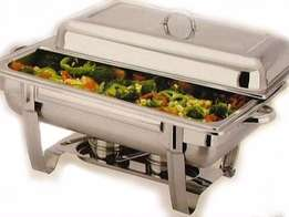 Two burner chafing dish with single pan
