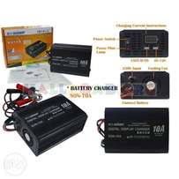 Battery Charger 6V/12V 10A With LCD Screen For Deep Cycle/Car Battery