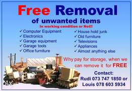 Free removal of unwanted household and garage goods