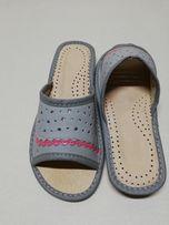 bedcd563 Kapcie góralskie pantofle laczki skórzane 36-41
