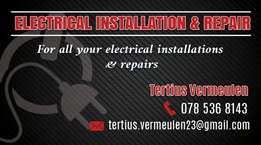 Electrical installations and repairs! !