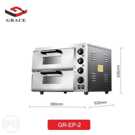 GRACE 220V 3000W Pizza Oven Two Desk Two Tray