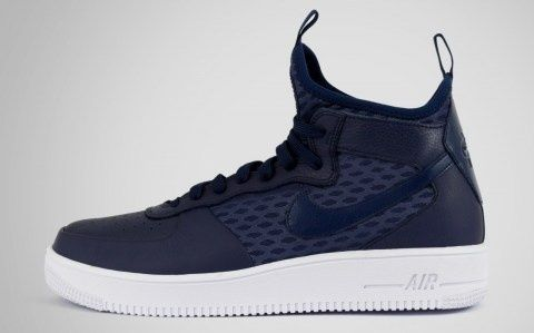 Buty Nike air force 1 ultra force mid niebieskie rozm. 45