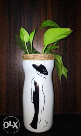 Recycled bottle with painting