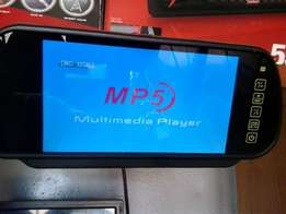 Brand new, Car mp5/with USB port rearview mirror, free delivery in nrb
