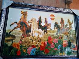 Beautiful wall horse frame