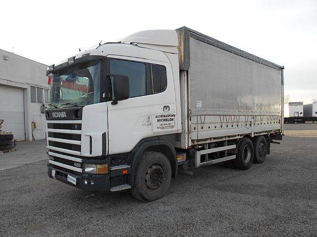Scania 6x2 124.420 Curtainsider + Hydraulic Lift - 2001