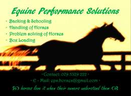 EQUINE PERFORMANCE SOLUTIONS - backing and schooling of horses