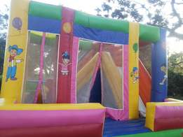 Sliding bouncing castle for hire and tents