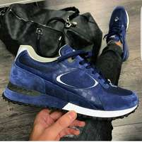 Louis Vuitton blue unisex sneakers