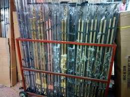 Imported curtain rods