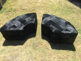 Cow Hide ( nguni cow ) Ottomans or Foot Stools