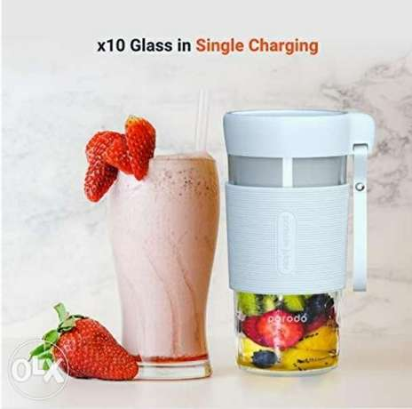 Porodo Portable Juicer, Electric USB Rechargeable Juice Maker, Blender