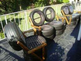 Out door tyre seats at 100,000