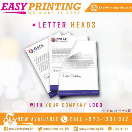 Letterheads Printing - With the Free Delivery Service!