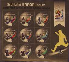 2010 south african SAPOA mint Miniture sheets different