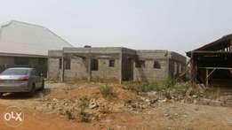 Uncompleted 3 bedroom bungalow For sale at Dutse. Price : 5m