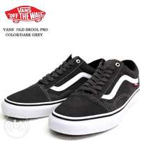 Vans Old Skool Pro Skate Sneakers - Black/White
