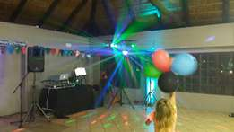 PA system, DJ, Music and Lights for parties