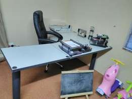 Large Study desk and drawer.