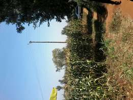 3/4 of an acre at makuyu, 2 kms off tarmac, branching at muranga T.C