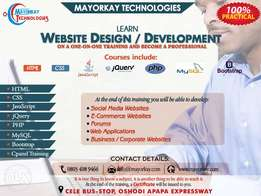 Learn website Design and Development on a one on one training