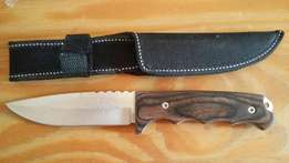 Home made hunting and skinning knife.