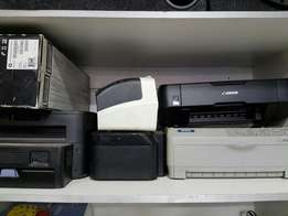 assorted printers for sale n computers 2nd hand boxes n screens