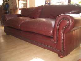 2.5 meter stunning RED BURGUNDY full leather all round studded awesome
