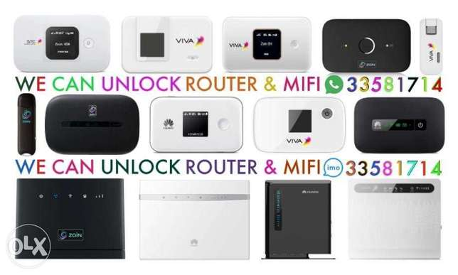 We Doing WiFi Router UnlocKing STC, Zain, Viva ,Batelco Huawei router