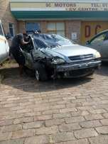 Opel astra turbo coupe crashed left side