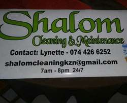 Shalom cleaning and maintenance
