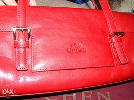 5fc3f9f57db94 Torebka skórzana,Wittchen,skóra naturalna,kolor-czerwona
