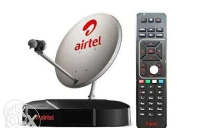 New Airtel Digital HD Receiver with 6months malyalam tamil telgu pack